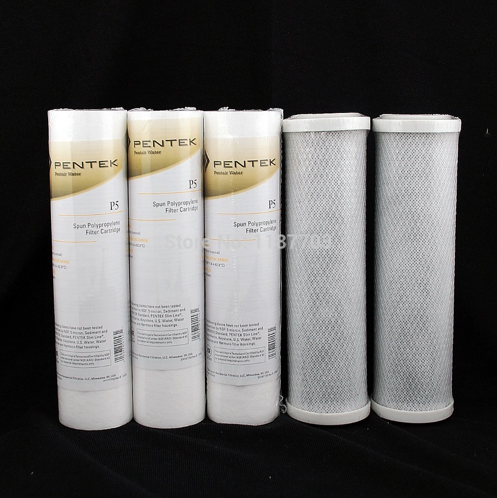 Water Filter Cartridge 3 Pentek PP Cotton Filter + 2 PCS CCBC Coconuts shell Activated Carbon Water Filters for Household kicx sc 600 1
