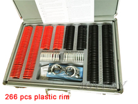 Trial Lens Set Kit 266 pcs Plastic Rim Optical lenses + 1pc Frame+ Aluminum Case