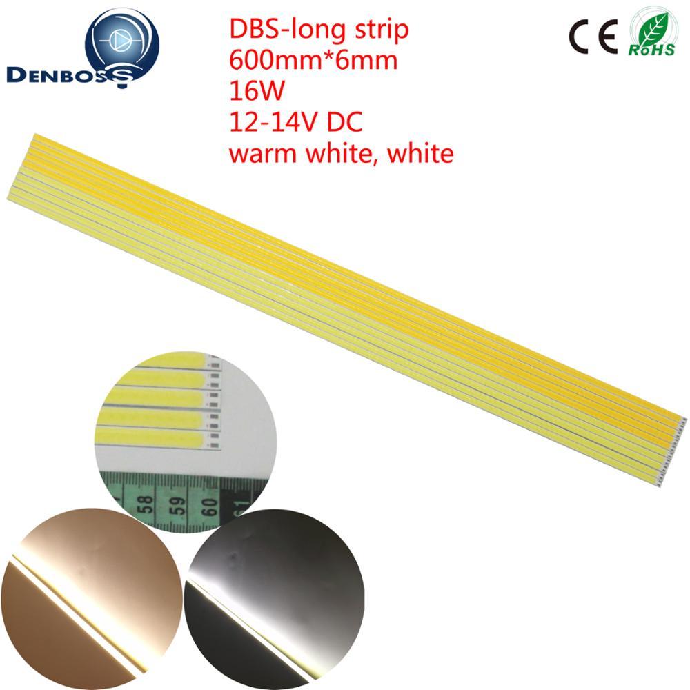 5PCS LED COB Strip 600x6mm flexible 16W 12V DC Bar light cob tubes Warm White for DIY Car Outdoor Camping Lamp COB led bulb