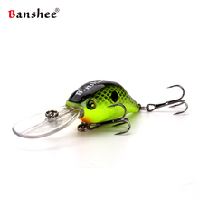Banshee 50mm 10g Profound Pulse Floating VC07 Bass Fishing Lure Sound Wobbler Hard Artificial Bait Deep Diving Crankbaits