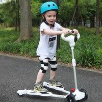 Четыре колеса самоката от 2 до 6 лет дети Best качество дети скутер для продажи полный флэш pu колеса в 50 кг