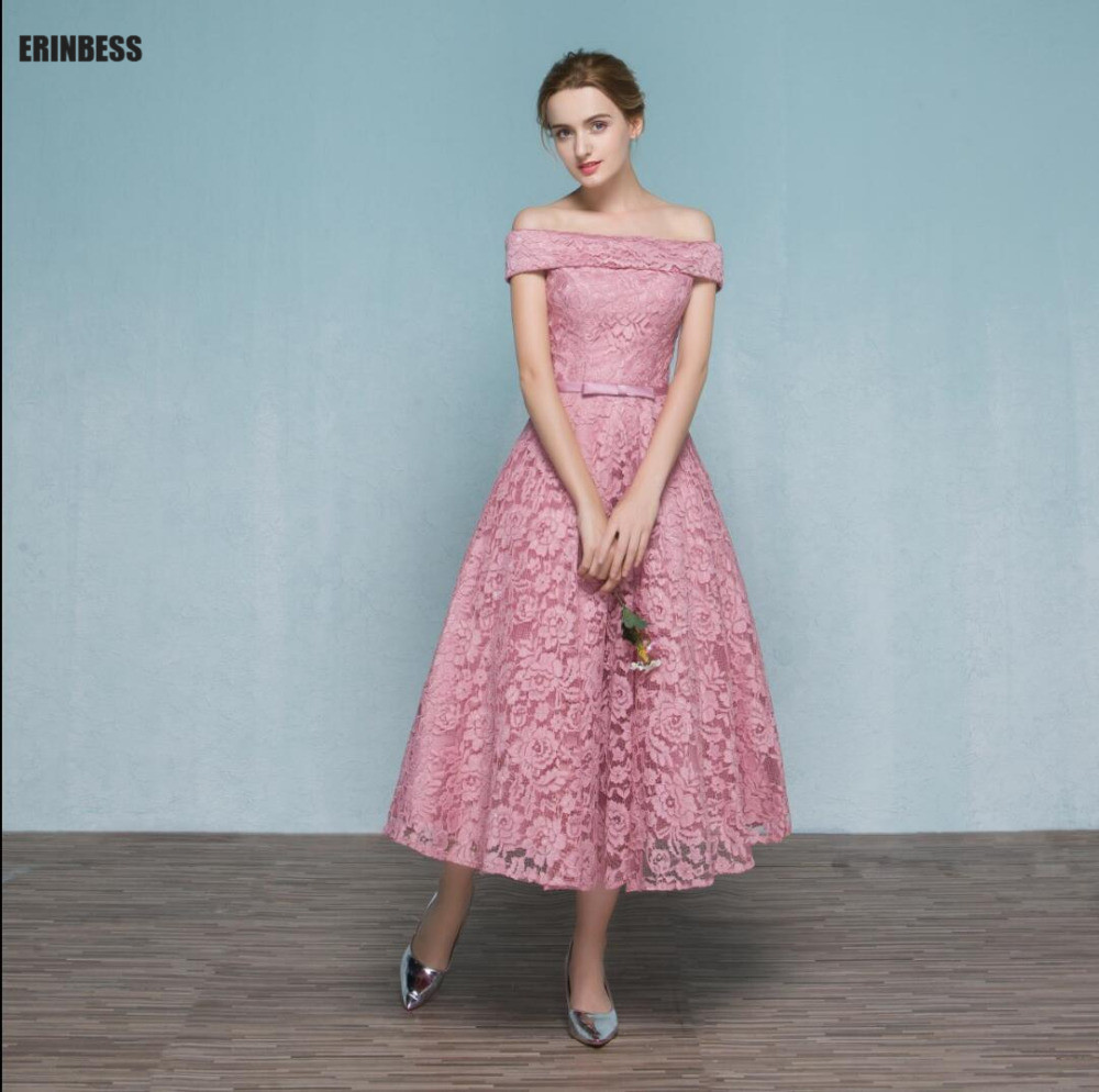 vintage new pink tea length prom dress – fashion dresses
