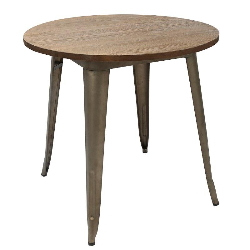 Промышленные Стиль Таблица пепла деревянный стол простой деревянной Рабочий стол Чай металлический стол
