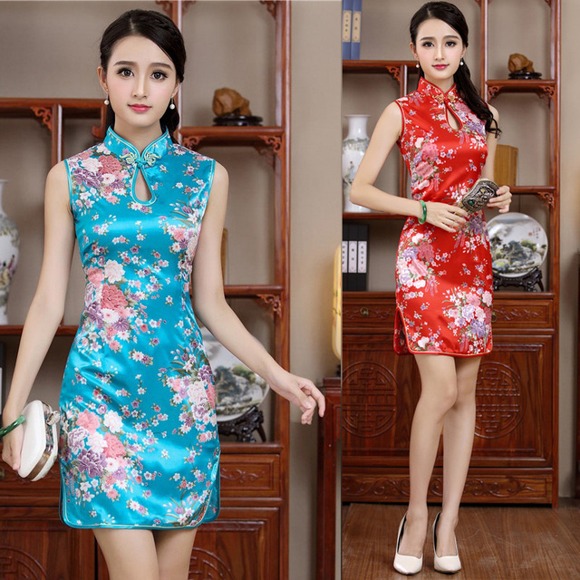 6f7809c20 Top Fashion Summer Mini Qipao Sexy Dripping Short Sleeve Cheongsam Novelty  Women's Prom Dress Dropshipping S M L