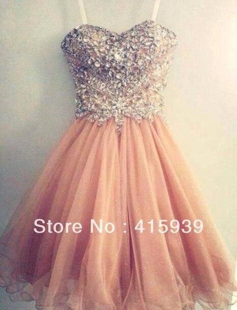 Vestido de fiesta corto color coral
