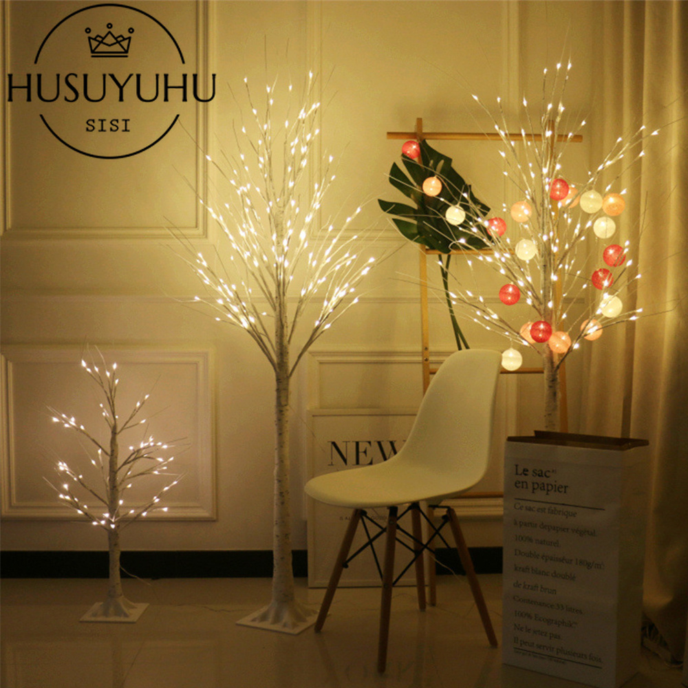 LED White Birch Style Wire Tree 90cm or 150cm Christmas Wedding Decoration