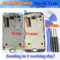 """Alta qualidade novo display lcd + digitador do toque de vidro da tela peças de reposição para meizu mx5 celular 5.5 """"preto Branco Com Moldura"""