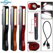 Светодиодный светильник-вспышка с зарядкой от usb, перезаряжаемый Магнитный фонарь с зажимом для ручки, рабочий светильник для кемпинга, тактический ночной Светильник