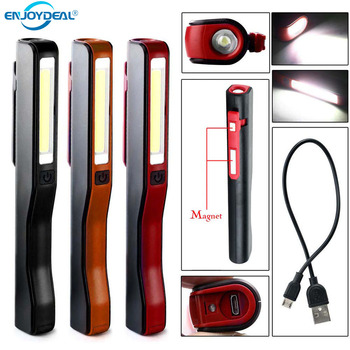 USB Charging LED Flashlight COB Rechargeable Magnetic Pen  lamp Hand Torch Work Light For Camping Lanterns Tactical Night Light cob work light flashlight examining light led camping lamp led tent light portable lanterns foldable torch lamp portable lights