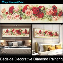 floral Bedside decorative Diamond Painting Full Round Rose Peony New DIY Sticking Drill Cross Embroidery 5D Home Decoration