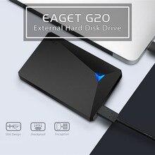 Eaget G20 Шифрование внешний жесткий диск 2 ТБ высокое Скорость противоударный USB 3.0 жесткий диск 1 ТБ рабочего ноутбука Портативный HDD 2.5″