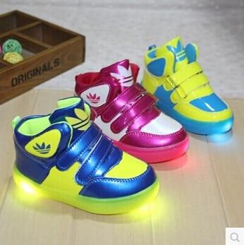 basket adidas lumineuse garcon