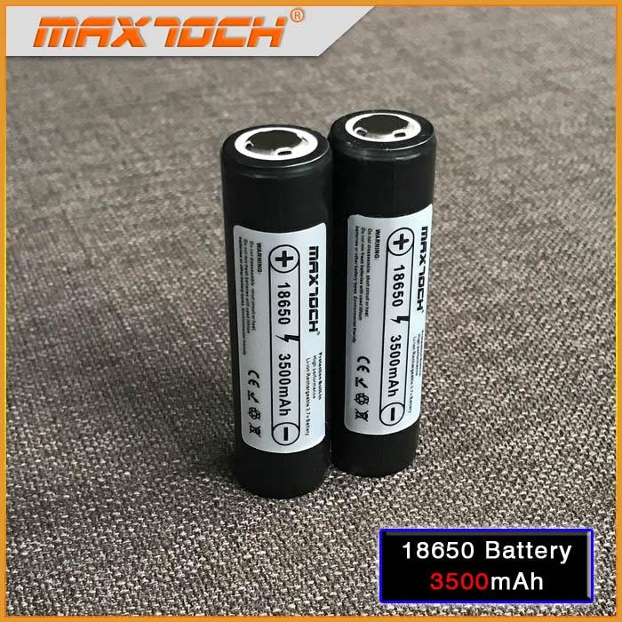 MAXTOCH 3500mAh Protected Pana Cell 3500 Protection 18650 Battery 2pcs