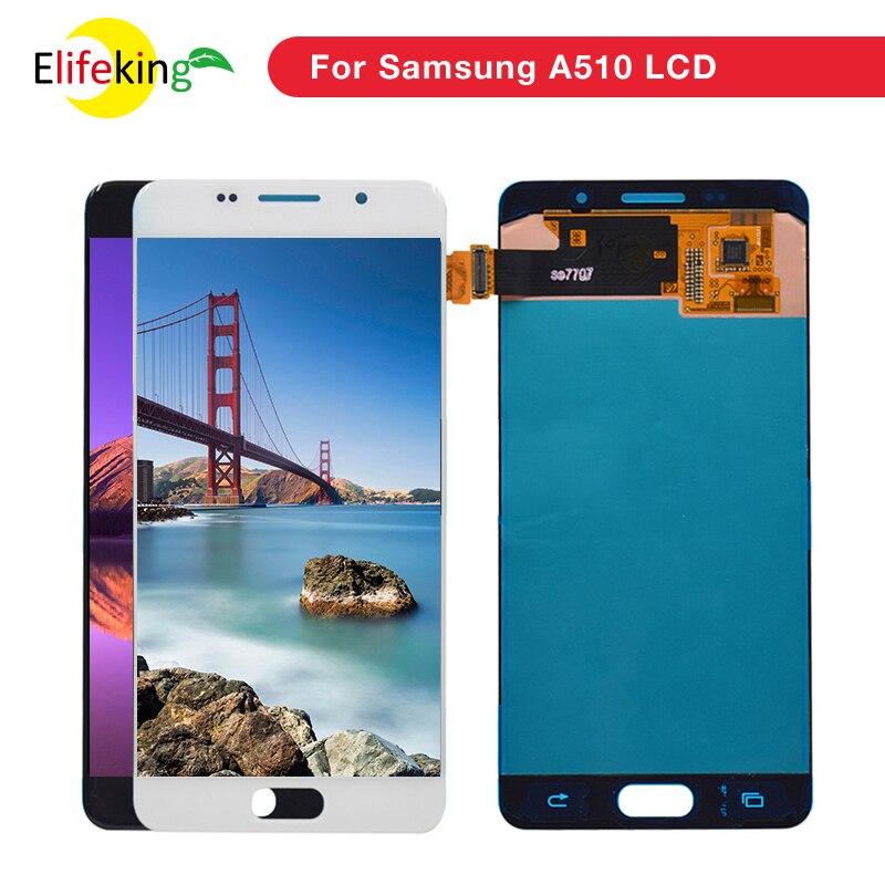 Super AMOLED A510f original LCD For Samsung Galaxy A5 2016 A510F A510F DS A510FD A510M Display