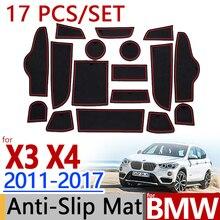 Для BMW F25 X3 F26 X4 2011- Противоскользящий резиновый коврик для подушки 17 шт. 2012 2013 Аксессуары для стайлинга автомобилей стикер