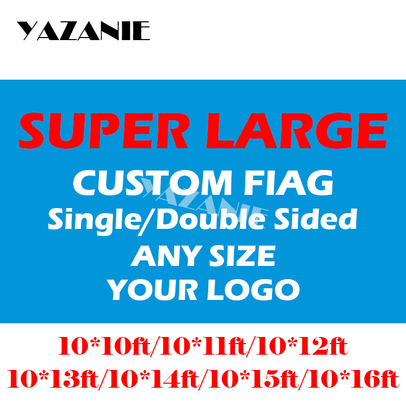 YAZANIE 10x10ft 10x11ft 10x12ft 10x13ft 10x14ft Large Custom Flags and Banners Big Design Logo Print Polyester