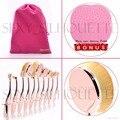 Profissional Novo 10 pçs/set de Pincéis Maquiagem Beleza Elite Oval Escovas Pó Foundation Kit + Escova de Limpeza Multiuso Escova De Dentes Em Forma