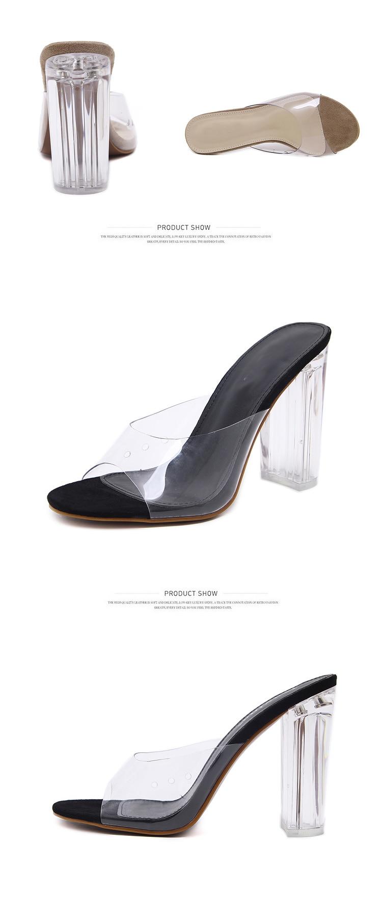 HTB1iXv3oDvI8KJjSspjq6AgjXXaJ Aneikeh New Women Sandals PVC Crystal Heel Transparent Women Sexy Clear High Heels Summer Sandals Pumps Shoes Size 41 42
