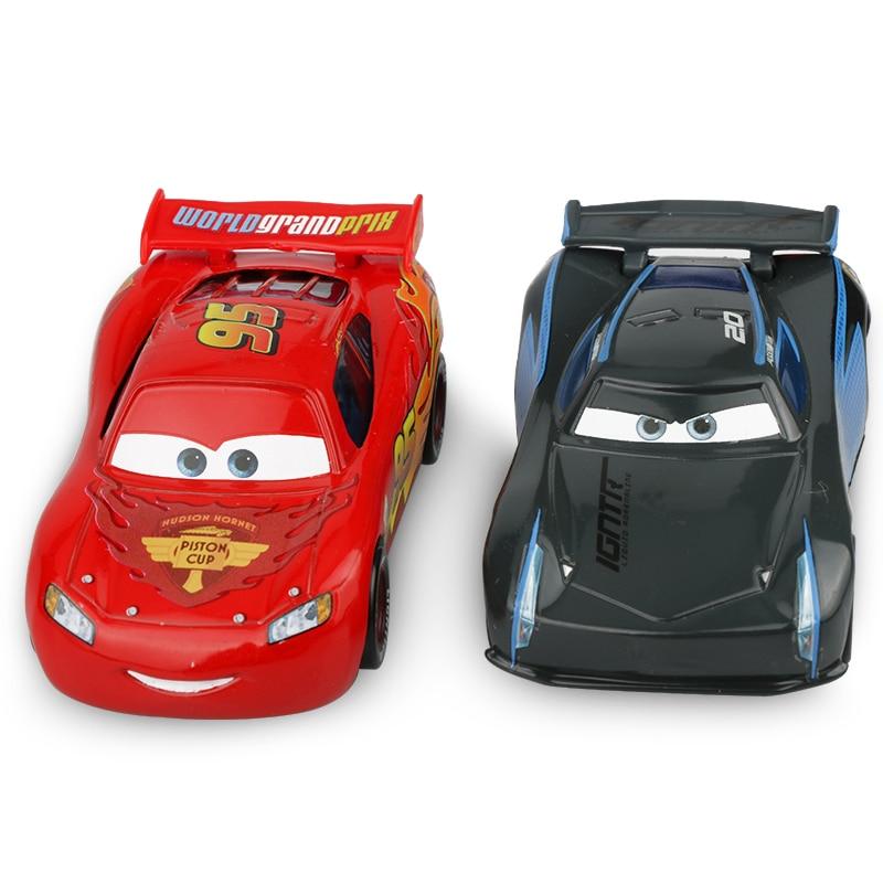 Disney Pixar Cars 3 Lightning McQueen Jackson Storm Mater Diecast Metal Birthday Christmas Toys Gift For Children Kids Boys
