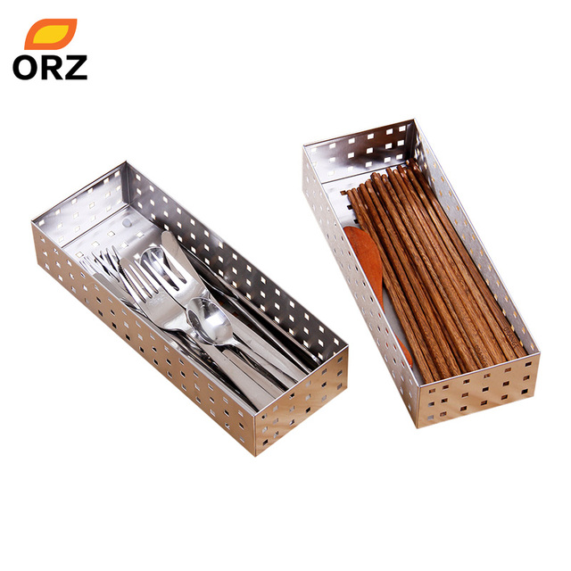 ORZ 2pcs Cutlery Trays Tableware Storage Basket Stainless Steel Metal Kitchen Drawers Organizer Dinnerware Storage Boxes  sc 1 st  AliExpress.com : dinnerware storage boxes - pezcame.com