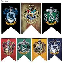 Harry Potter Flag Fashion Decorations For Home Hogwarts Slytherin Harry Potter's Four Colleges Hanging Ornament Car Pride 75x125