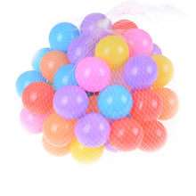 10pcs Milieuvriendelijke Kleurrijke Zachte Plastic Water Zwembad Ocean Wave Ball Baby Grappig Speelgoed stress lucht bal outdoor fun sport(China)
