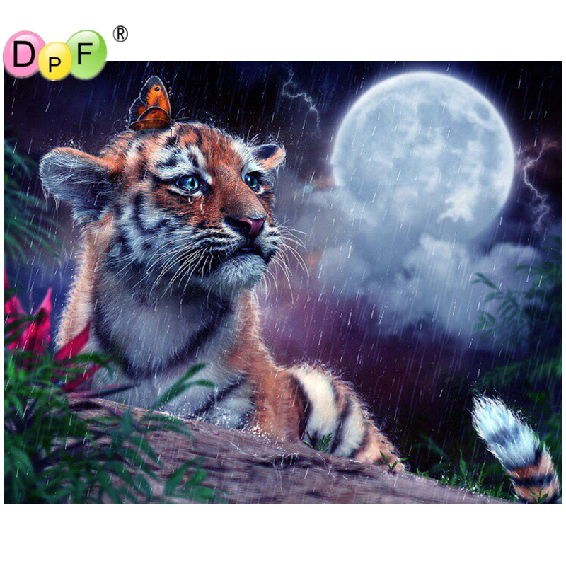 DPF DIY The tiger tears 5D diamond painting cross stitch diamond embroidery home decor crafts needlework mosaic kit full square