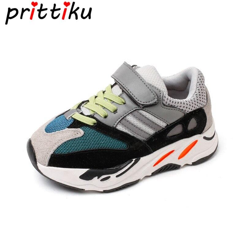 Niños Niñas moda Zapatillas de deporte de marca de los niños de la escuela deporte Zapatillas bebé niño pequeño gran chico casuales Skate elegante zapatos de diseñador