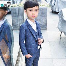 da798e7fa5ae Ragazzi Blazer Abiti per Matrimoni Partito Bambini Jacket + Vest + Pants +  Tie 4 pezzi