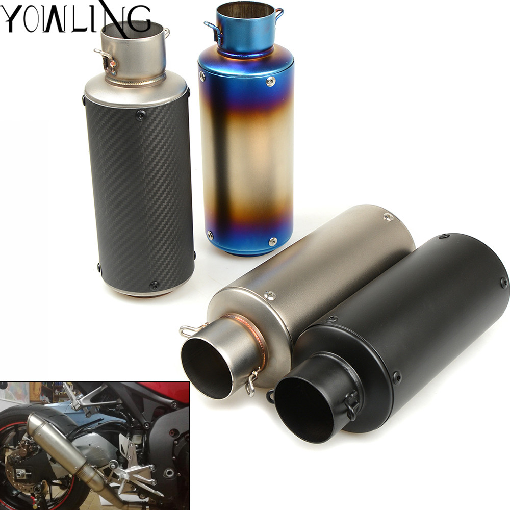 Universal Motorcycle Exhaust Pipe Scooter Modified exhaust Muffler pipe For HONDA Yamaha KAWASAKI ER6N BMW S1000RR F 800 R