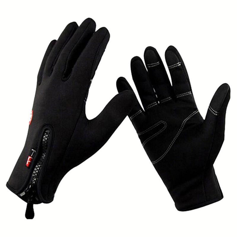 Windstopers Gloves Anti Slip Windproof Thermal Warm Touchscreen Glove Breathable Tactico Winter Men Women Black Zipper Gloves 31