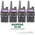 4 pçs/lote brand new original baofeng uv-5r dual band vhf uhf 5 w wakie talkie com fone de ouvido livre
