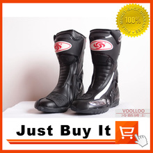 Great Quality Anti collision Motorcycle shoes Skid Racing boots Knight boots Premium leather ABS protective material