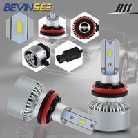 עבור שברולט Bevinsee 1 סט רכב LED ערפל פנסי 9-36V עבור שברולט מפולת 2007 2008 2009 2010 2011 2012 2013 H11 לבן הפנסים (1)
