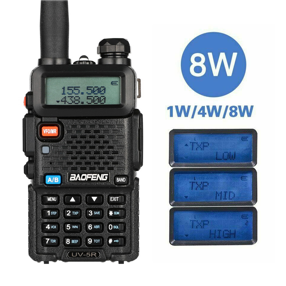 Baofeng 8W High Power Powerful Walike Talkie Two-Way Radio UV-5R Upgraded Of UV-5R 10km Long Range For Travel Hunting Forest