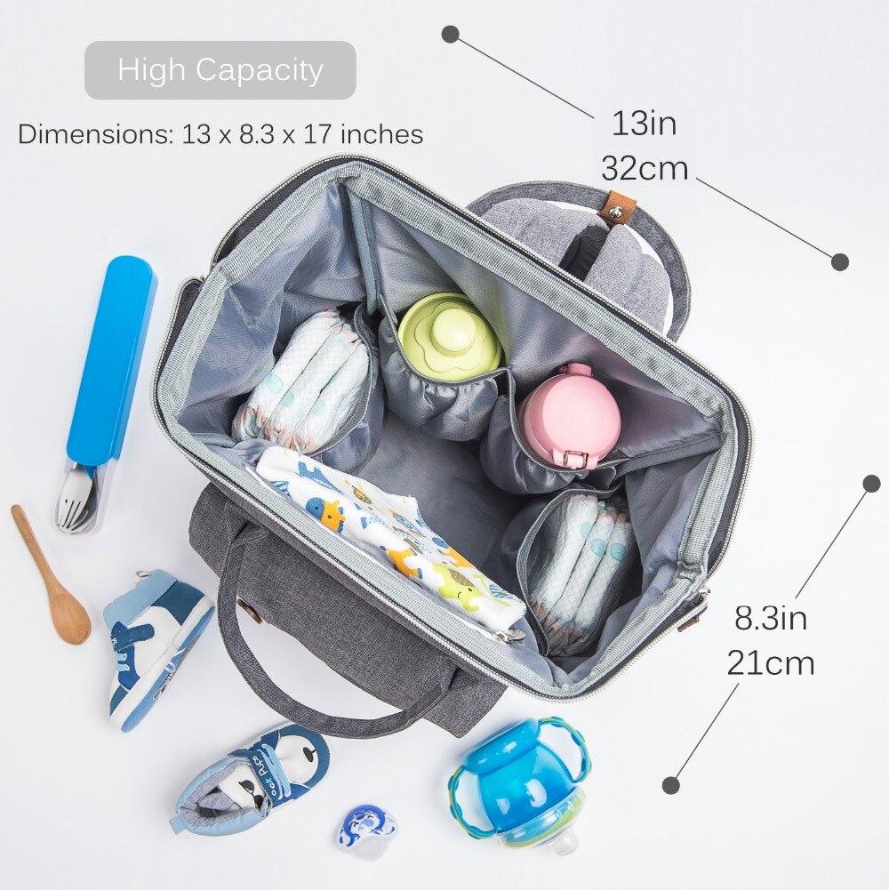 Alameda mode momie sac de maternité multi-fonction sac à couches sac à dos Nappy bébé sac avec des sangles de poussette pour les soins de bébé - 2
