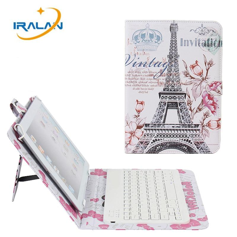 Torre de fundas de cuero para iPad mini 1 2 3 4 de 7,9 pulgadas, nuevo teclado inalámbrico con Bluetooth Slim soporte de la cubierta de la tableta cubierta + pen