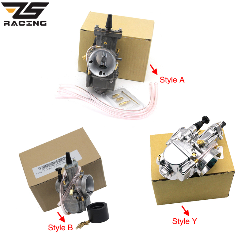 ZS Racing PWK 21MM 24MM 26MM 28MM 30MM 32MM 34MM Racing Carburetor For Scooter JOG DIO KR150 CR80 CR85R CR125 With Power Jet