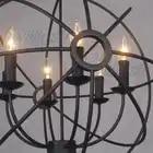 Vintage Pendant Lamp FOUCAULT'S ORB CHANDELIER RUSTIC IRON Loft industry country gyro diameter 50cm 65cm 80cm suspension light - 5