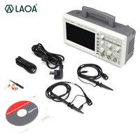 LAOA цифровой осциллограф Полоса пропускания 2 Каналы PC USB ЖК дисплей Портативный Osciloscopio portátil электрические инструменты