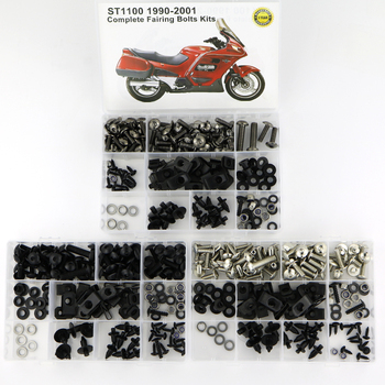Fit For HONDA ST1100 1990-2002 Complete Full Fairing Bolts Kit Motorcycle Covering Bodywork Screws Bolts Speed Nuts for yamaha tmax 530 tmax530 2012 2019 complete full fairing bolts kit bodywork screws steel clips speed nuts covering bolts