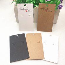 Cartões de papel para embalagem de unhas, 20 pçs/lote adesivos artesanais com brinco amor