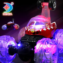 Extend Stunt Car with Shining Light Music RC Remote Control Car Electric Toy Dump Car Dumper