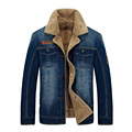 New Retro Warm Denim Jackets Mens Jeans Coats Winter Jackets Brand Thicken Denim Coat Men Outwear Male Plus Size M~4XL 140wy