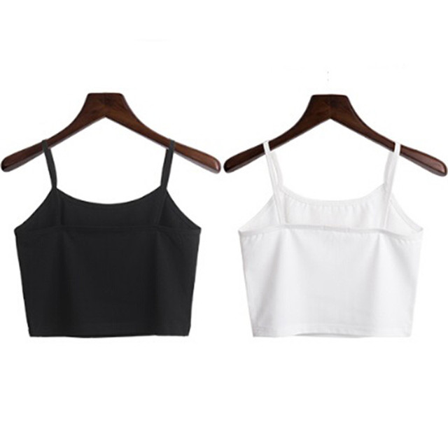 790c695ba972a Summer Style White Black Camis Vest Sexy Women s Strap Tanks Crop Tops  Sleeveless Short Y
