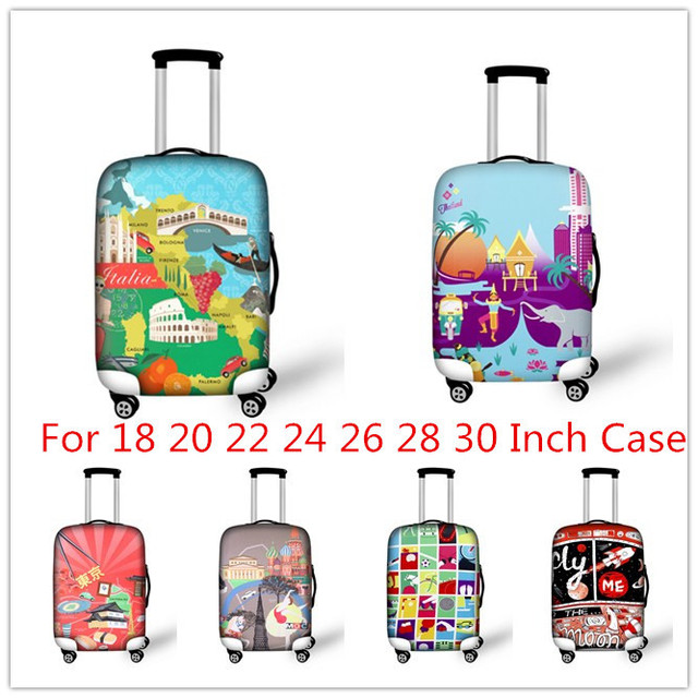 FORUDESIGNS Well-known Local Mark Luggage Cover 3DPrint Luggage Protective Cover Dustproof Suitcase Cover For 18-28 Inch Case