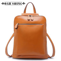 100 Guranteed Genuine Leather Women Backpack Cowhide Shoulder Bags 10colors 36 30cm