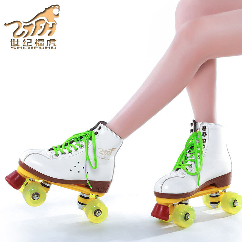Genuine Leather Roller Skates Double Line Patines Women Models Adult Black With Racing 4 PU Wheels Two line Roller Skating ShoesGenuine Leather Roller Skates Double Line Patines Women Models Adult Black With Racing 4 PU Wheels Two line Roller Skating Shoes