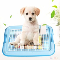 Portable Pet Dog Indoor Restroom Training Potty Toilet Fence Tray Pad Mat