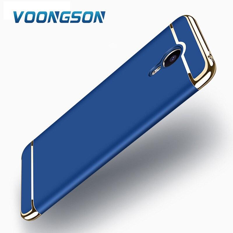 M5note VONGSON original 5.5 polegada para Meizu caso tampa traseira de proteção 3 em 1 capas de luxo Para m5 Meilan nota caso difícil